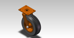 12in 450kgs Centipede Rubber Wheel