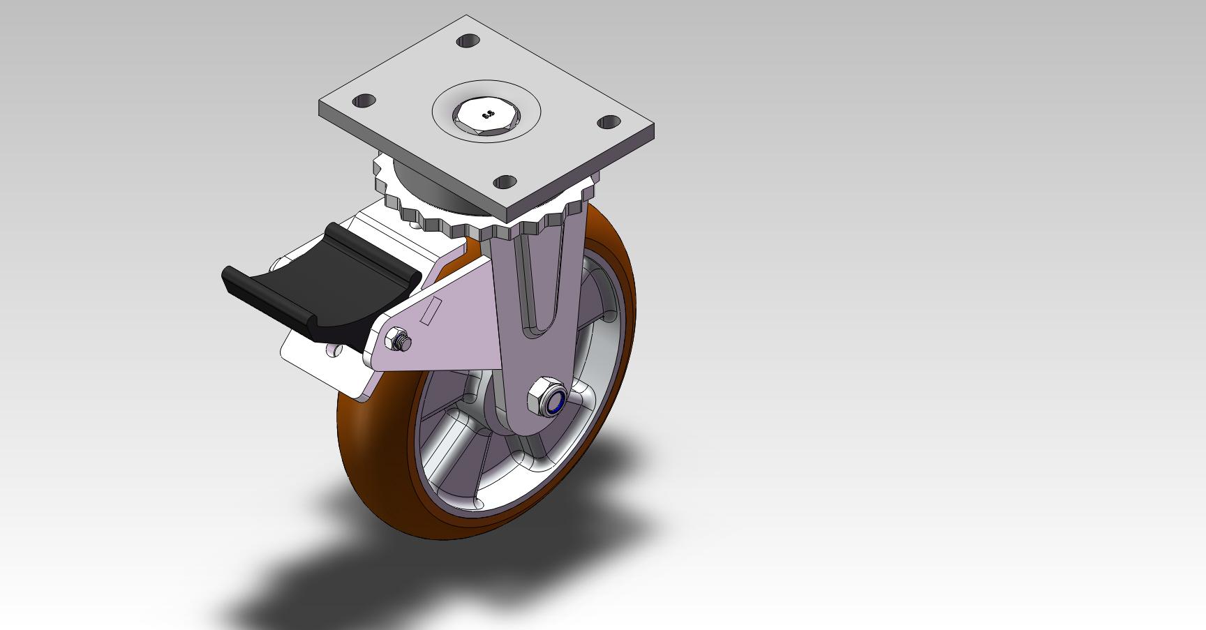 8x2鋁芯歐款PU無偏心活動剎車輪.JPG
