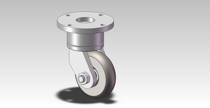 90x25mm Steel Swivel Caster