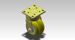 3in AGV 800kgs Crankshaft Mechanism Swivel Caster