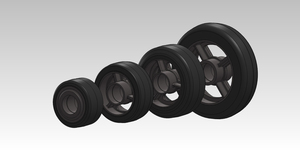 200-400kgs Ball Bearing Rubber On Cast Iron 85A